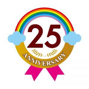 イベント25周年「ロゴ」デザイン
