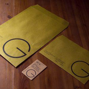 自社「封筒と名刺」デザイン